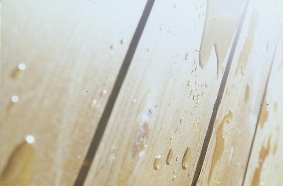 Zoom goutte eau parquet bois Bondex